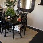 Cómo pintar una mesa de madera de color negro