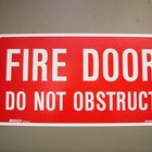 Fire regulations on door locks