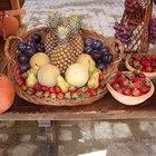 Cómo preparar una canasta de fruta fresca