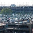 Metragem quadrada do estacionamento por carro