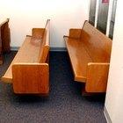Como limpar os bancos da igreja