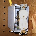 What are the causes of a melted electrical outlet?