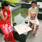 Easten Chinese Bride Beauty in traditional wedding clothes