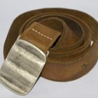 How to Paint Gold Buckles a Silver Color