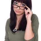 portrait charming young woman glasses