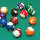 Quais são as cores padrão das bolas de bilhar?
