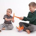 Cómo hacer comida falsa para jugar con niños