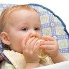 Comidas para alimentar a un bebé de 8 meses que no tiene dientes