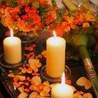 Ideas para centros de mesa para una fiesta de cumpleaños de 80 años con velas y flores