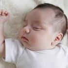 Closeup of newborn baby crying