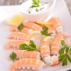 Barbecue Grill cooking seafood.