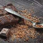 Chocolate blocks in pot