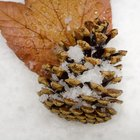 How to make pine cones with fabric and styrofoam balls