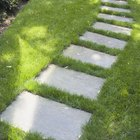 How to lay flag stone on uneven ground