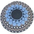 Instruções para fazer um quipá de crochê