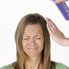 Cómo quitar la laca seca de tu cabello