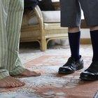 Directly Above Shot Of Flip-Flop On Wooden Floor
