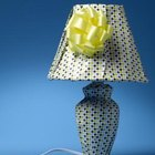 Repurpose a dress shirt into a lampshade.