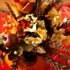 Combine fresh and dried flowers for a fall look.