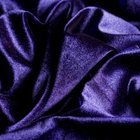 The rich purple velvet is sophisticated in color and in texture.