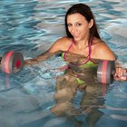 Happy pregnant woman in water