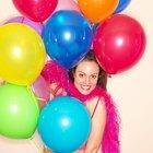 Cómo hacer un arco de globos con dos colores