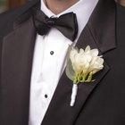 Cufflinks and tuxedo bow tie