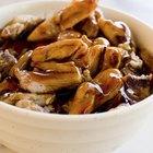 Potatoes with mushrooms in sour cream