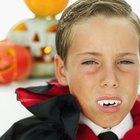Como fixar falsos dentes de vampiro usando coisas feitas à mão