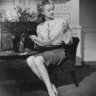 Clásica moda de la década de 1940 para mujeres