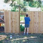 Check local building codes before building fences.