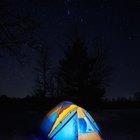 Campamentos cerca del lago Green Valley, California
