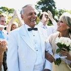 Senior Newlyweds Cutting their Wedding Cake