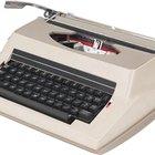 Cómo usar una máquina de escribir Smith Corona