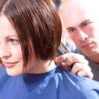 girl cutting hair