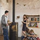 The whole family can enjoy the warmth of a stove.