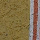 Como pintar linhas e faixas retas em paredes irregulares