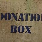 ¿Qué palabras debo utilizar en una caja para donaciones?