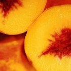 Firm-fleshed yellow peaches are good for canning.
