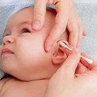 Child's otolaryngologist doing ear examination