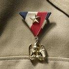 How to attach medals onto uniforms