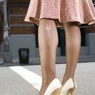 Como consertar um furo em tecidos de náilon ou meias-calças
