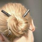 Cómo hacer un rodete desordenado lindo y fácil para cabello hasta los hombros con flequillo