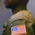 Como uma bandeira deve ser costurada em uma manga de camisa?