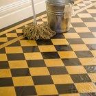 Cómo quitar las manchas amarillas de un piso de vinilo