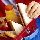 Almuerzos escolares saludables para niños