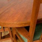 Cómo construir la superficie circular de una mesa de madera