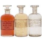 Tipos de garrafas usadas para armazenar ácidos e bases