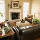 Cómo decorar usando muebles de cuero marrón oscuro