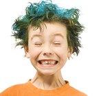 Tintura de cabelo caseira para crianças